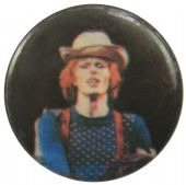 David Bowie - 'David White Hat' Button Badge